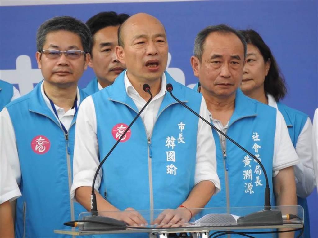 韓國瑜(中)11日辦音樂會,向支持者道別。(資料照,柯宗緯攝)