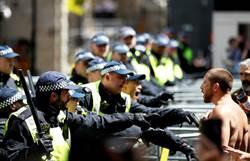影》倫敦示威爆流血衝突 警被揍逮上百人