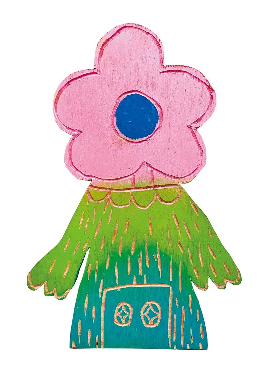 藝人孟耿如亦在「藝起加油ART」推出自己的作品。圖/藝起加油ART提供