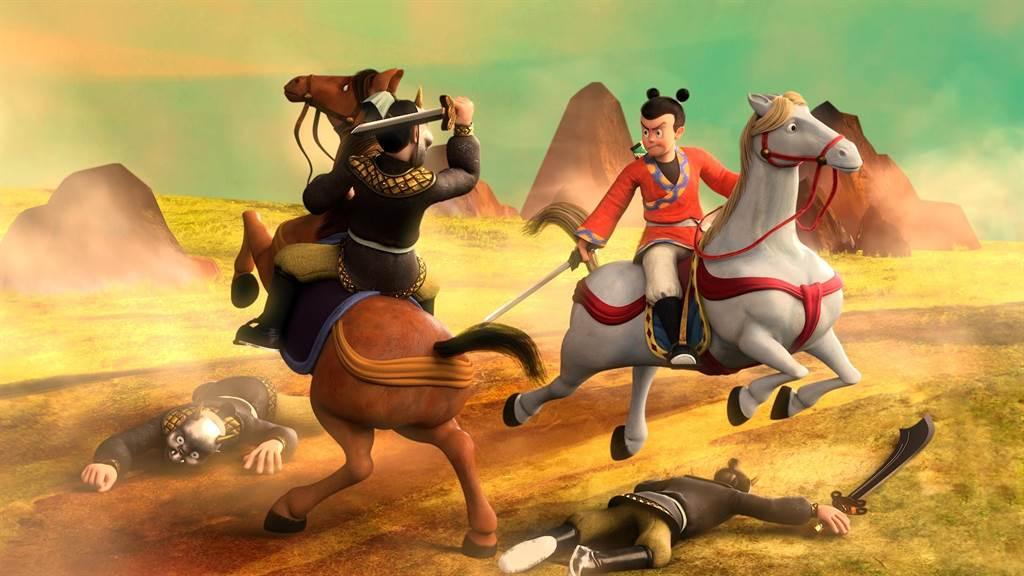 《英雄的英雄》改編自已故漫畫家葉宏甲的作品《諸葛四郎》,描述武功高強的諸葛四郎與夥伴真平冒險的旅程。(文策院提供)