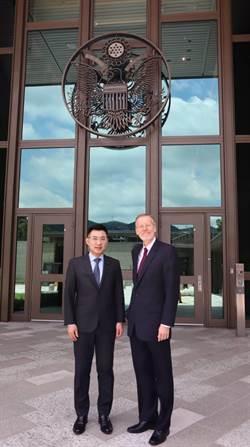 藍強化對美關係 江啟臣回訪AIT處長酈英傑