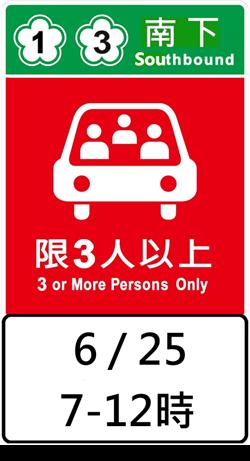 端午連假國道高乘載管制 收假日免收費延長至10時