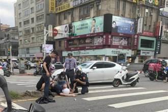 北市員警衝案件現場  騎車被保時捷撞斷牙