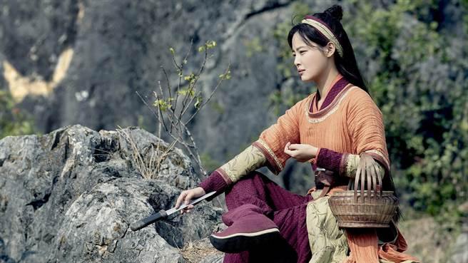 辛芷蕾在《慶餘年》的村姑海棠朵朵造型。(中天娛樂台提供)