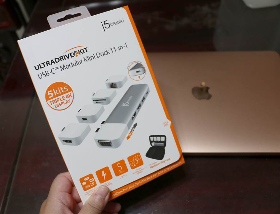 j5create ULTRADRIVE Kit包裝盒。(黃慧雯攝)