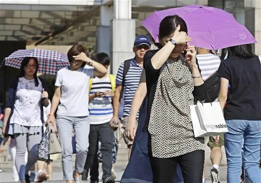 天氣風險氣象分析師吳聖宇指出,這兩天台灣剛好在太平洋高壓下方,空氣非常乾,讓雲層無法發展。(資料照/張鎧乙攝)