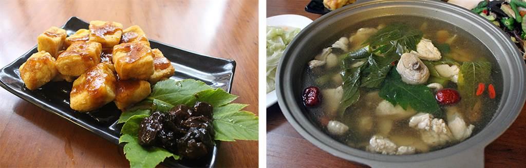 在地經營20多年的部落風味餐廳,老闆推薦高山蔬菜搭配招牌的梅子料理、雞湯。(照片提供/部落風味餐廳)