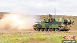 15式坦克登高 西藏軍演亮相