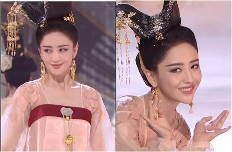 舞藝精湛的佟麗婭一颦一笑都絕美。(圖/取材自江蘇衛視天貓618超級晚微博)