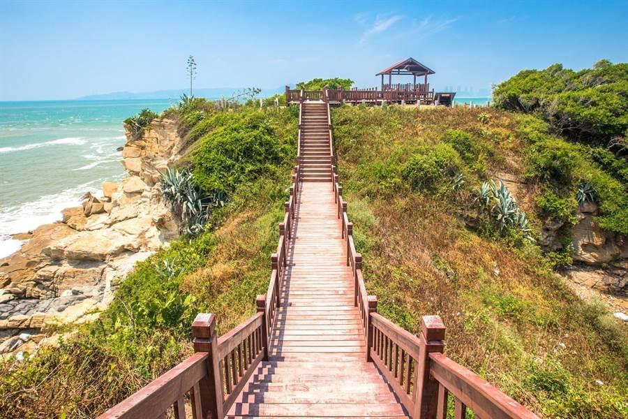 金門日環食10大浪漫觀賞景點之一的「沙溪堡」。(縣府觀光處提供)