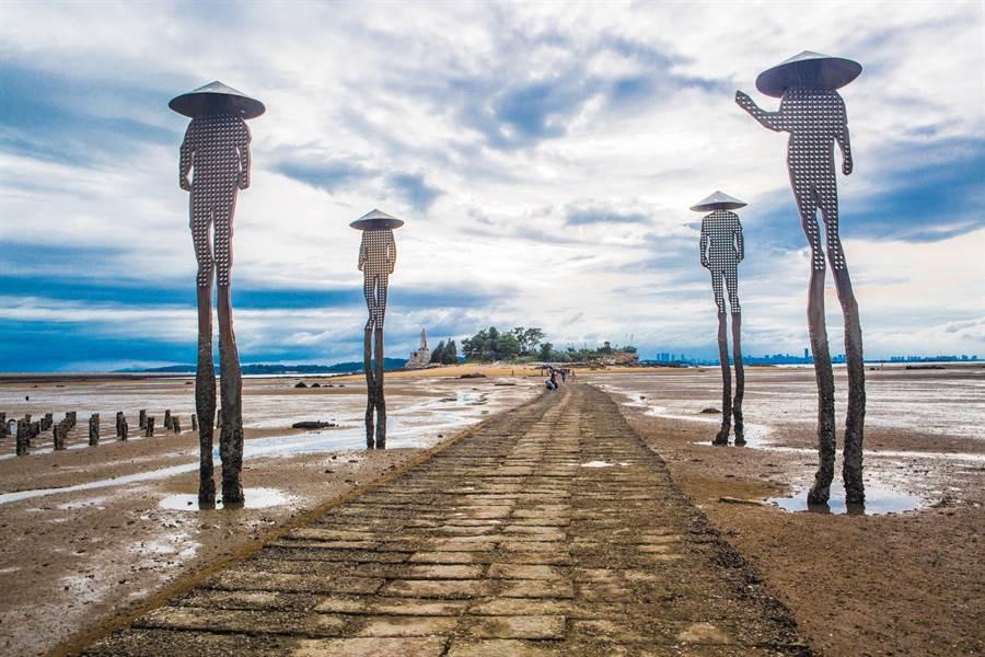 金門日環食10大浪漫觀賞景點之一的「建功嶼」。(縣府觀光處提供)