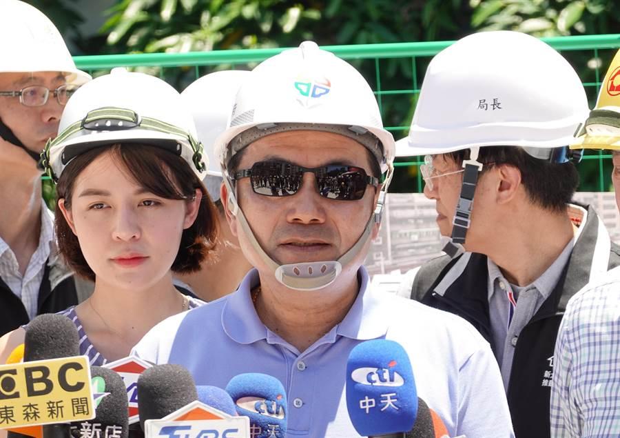 新北市長侯友宜稱看報紙才知道蔡英文要到新北。(姚志平攝)