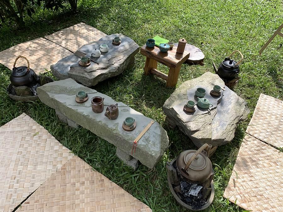 部落野趣茶席競賽是寶山部落年度重頭戲之一。(照片提供/荔寶文創)