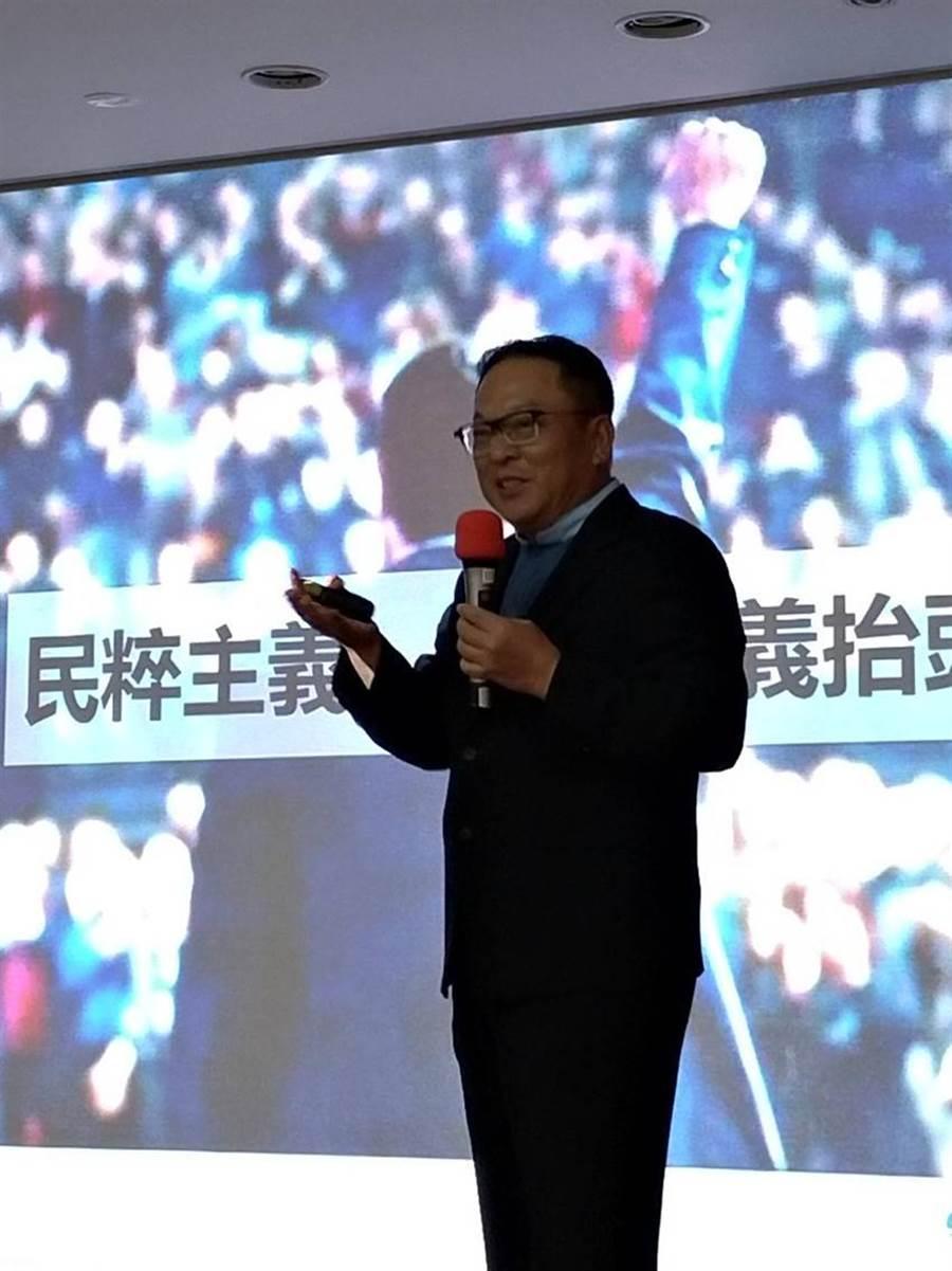 「疫戰下台商的新布局論壇」於16日召開,全球自行車大廠巨大集團執行長劉湧昌在會中表示看法。圖/蘇崇愷