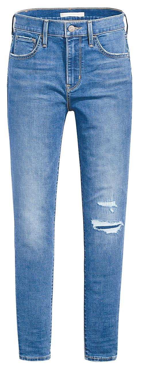 LEVI,S COOL Jeans涼感丹寧系列720高腰超緊身窄管褲,4390元。(LEVI,S提供)