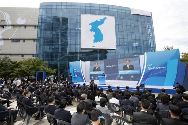 2018年9月南北韓設立兩韓聯絡辦公室,這也是兩韓首次建立實質固定的聯絡中心。(美聯社)
