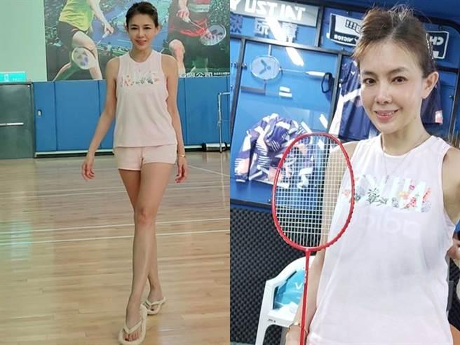 林美貞熱愛打羽毛球。(圖/FB@林美貞)