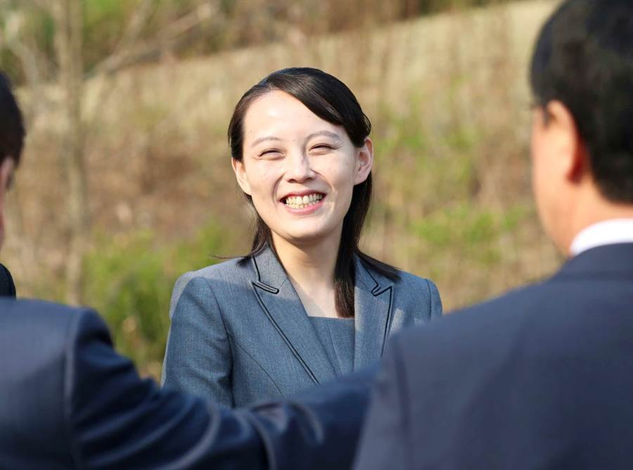 北韓最高領導人金正恩的胞妹、勞動黨第一副部長金與正。(達志影像)