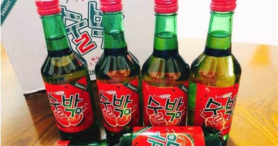 「西瓜燒酒」。(圖/爆嗨燒酒提供)