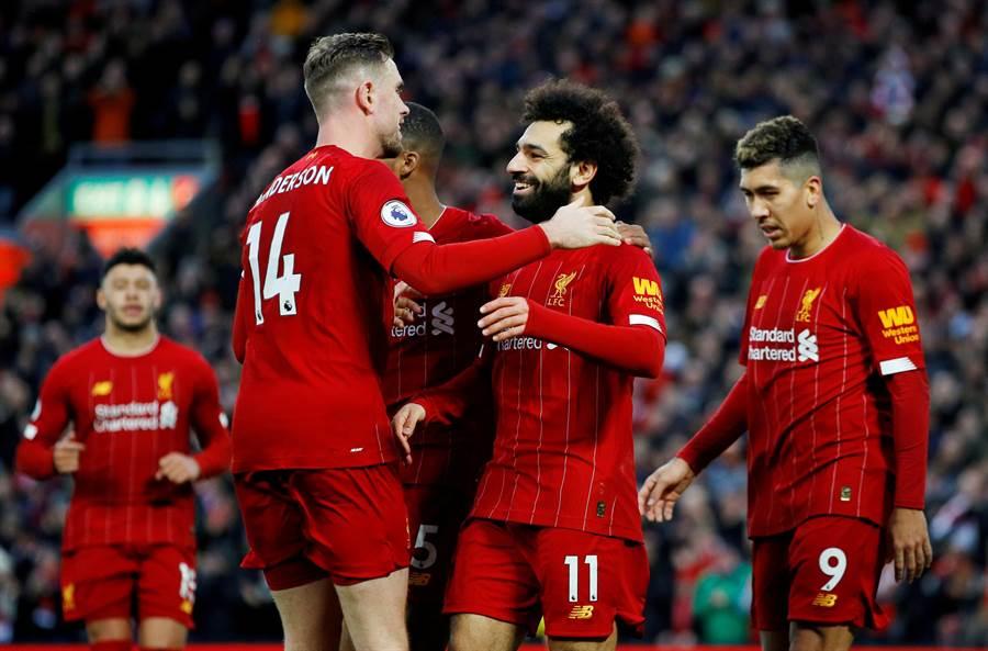 利物浦只差兩勝就能贏得隊史首座英超冠軍。(美聯社資料照)