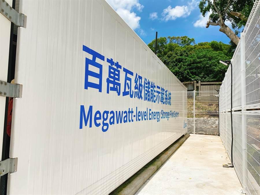 離岸風電商沃旭能源贊助的全台首座百萬瓦級 (MW) 儲能示範系統,今在彰化師範大學寶山校區正式啟用,該系統為台達電協助建置。(圖:沃旭提供)