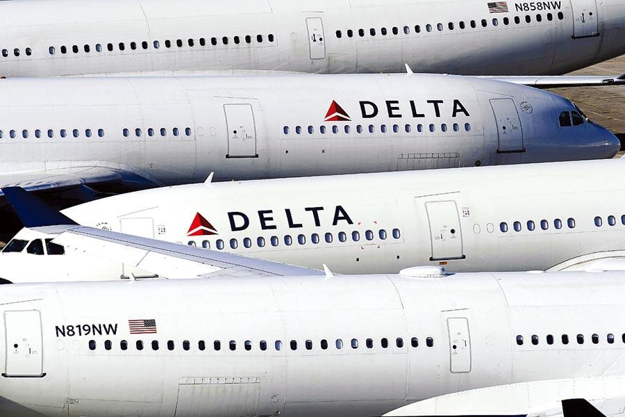 因新冠肺炎疫情中斷的陸美客運航班即將復航,每周各4班往來美國與上海。圖為達美航空。(路透)
