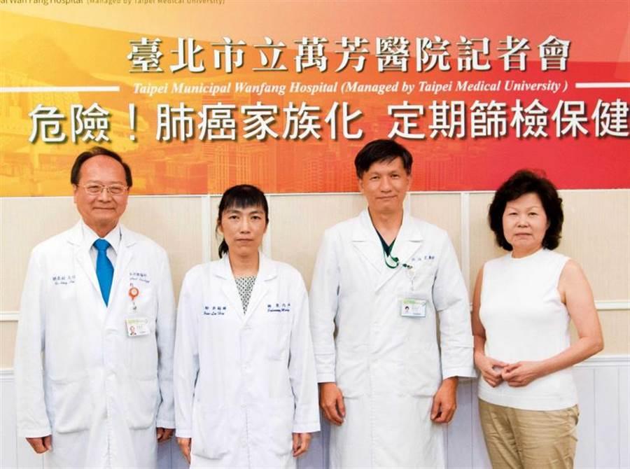 台灣癌症基金會執行長賴基銘呼籲,肺癌有家族化傾向,若家中有人罹患肺癌,更應定期篩檢,守護健康。(圖/萬芳醫院提供)