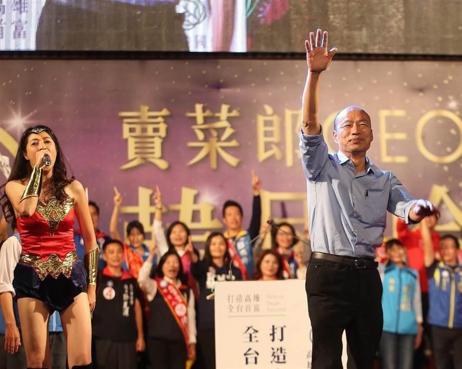 國民黨立法委員許淑華(左)、前高雄市長韓國瑜(右)。(圖/本報資料照)