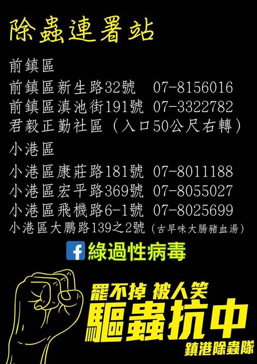 罷免陳致中目前已增加至6個連署點。(圖/翻攝 朱挺玗 臉書)
