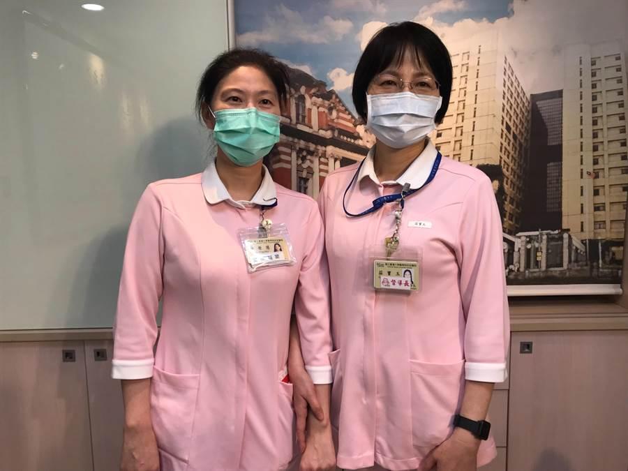 台大醫護團隊成為病人安心穩定最大的力量。(鄭郁蓁攝)