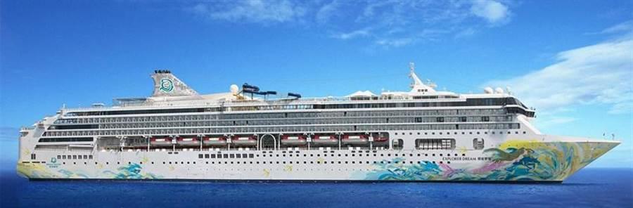 (「探索夢號」今年暑假將推台灣離島、跳島與公海旅遊行程。圖/取自麗星網站。)