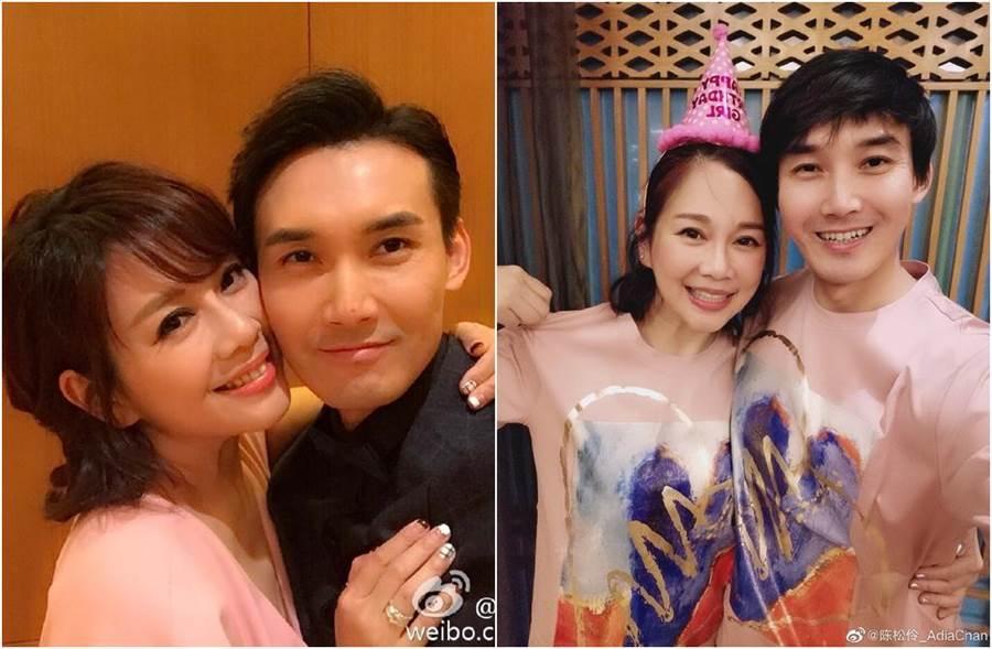 陳松伶和張鐸結婚9年,感情甜蜜。(圖/翻攝自微博)