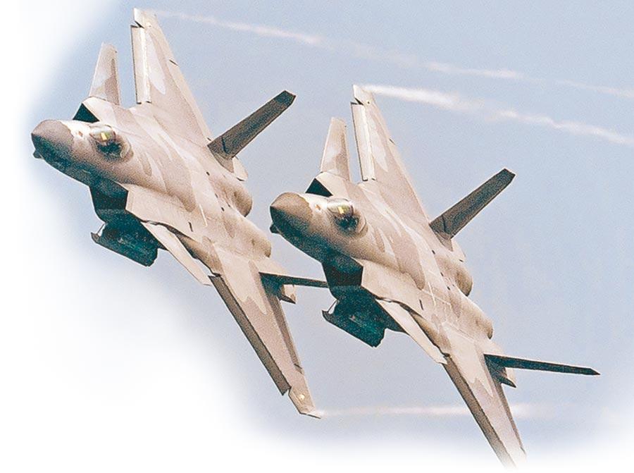 解放軍殲-20戰機。(新華社資料照片)
