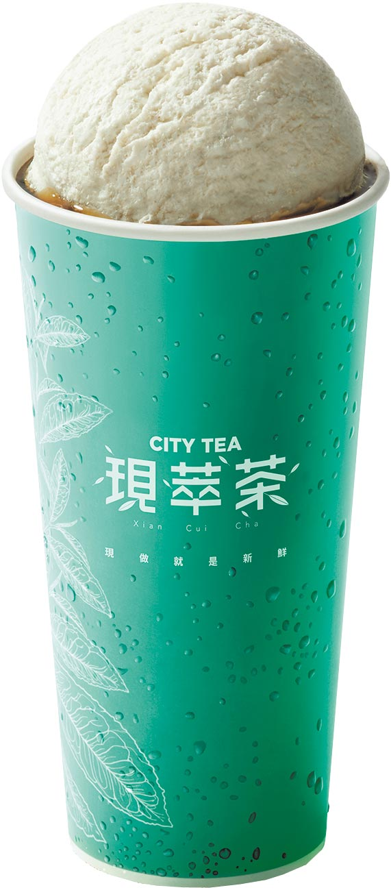 7-11 CITY TEA現萃茶新品冰淇淋紅茶,65元。(7-11提供)
