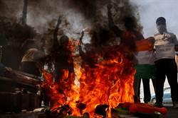 中印邊境流血衝突掃到北韓 印度抗議者燒了金正恩芻像