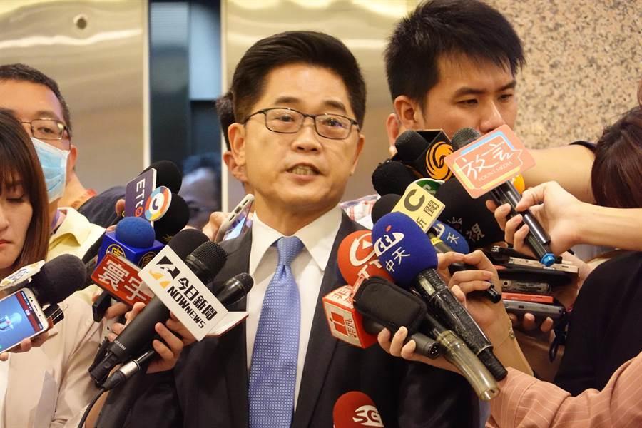 台東縣長黃健庭19日出面說明被提名監察院副院長爭議。(姚志平攝)