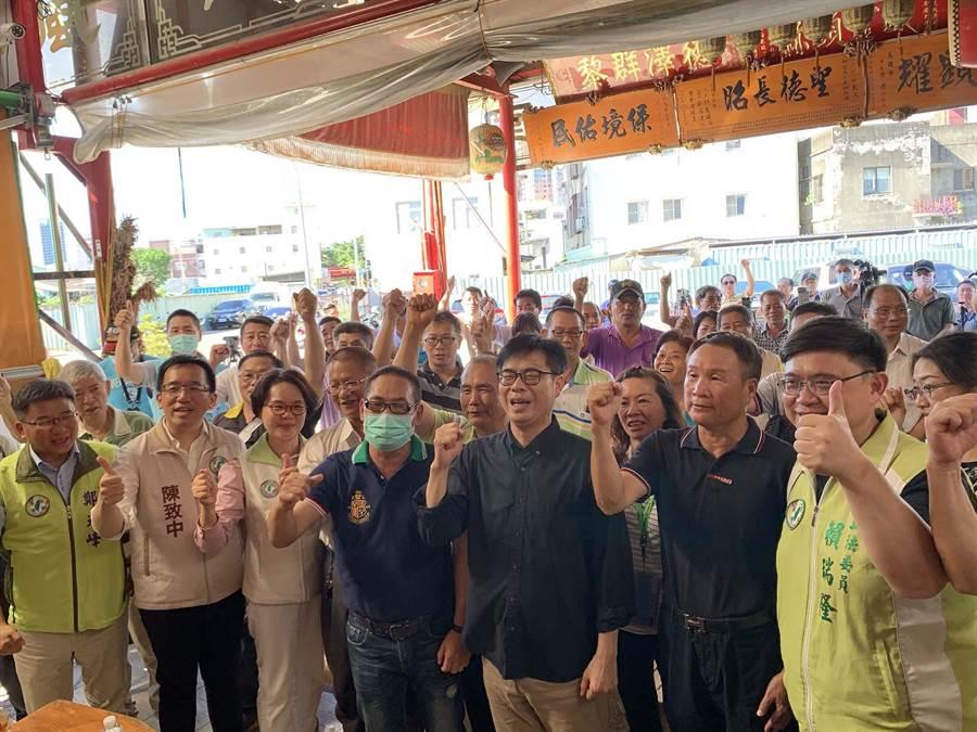 民進黨高雄市長參選人陳其邁今天下午到前鎮區與鄉親座談。(柯宗緯攝)
