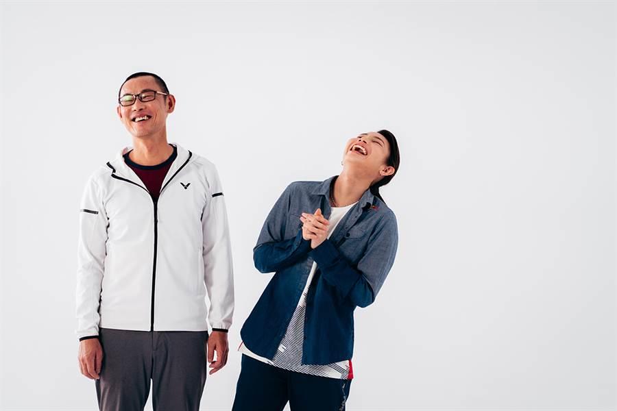 戴資穎(右)和爸爸戴楠凱感情相當好。(Red Bull提供)