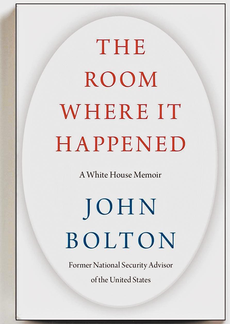 波頓新書-事發機要室:白宮回憶錄,雖被美司法部門以涉及洩漏國家機密申請禁止發行,但還是有人閱讀完全書,準備寫書評。這本書目前也榮登亞馬遜預售冠軍。(取材自網路)