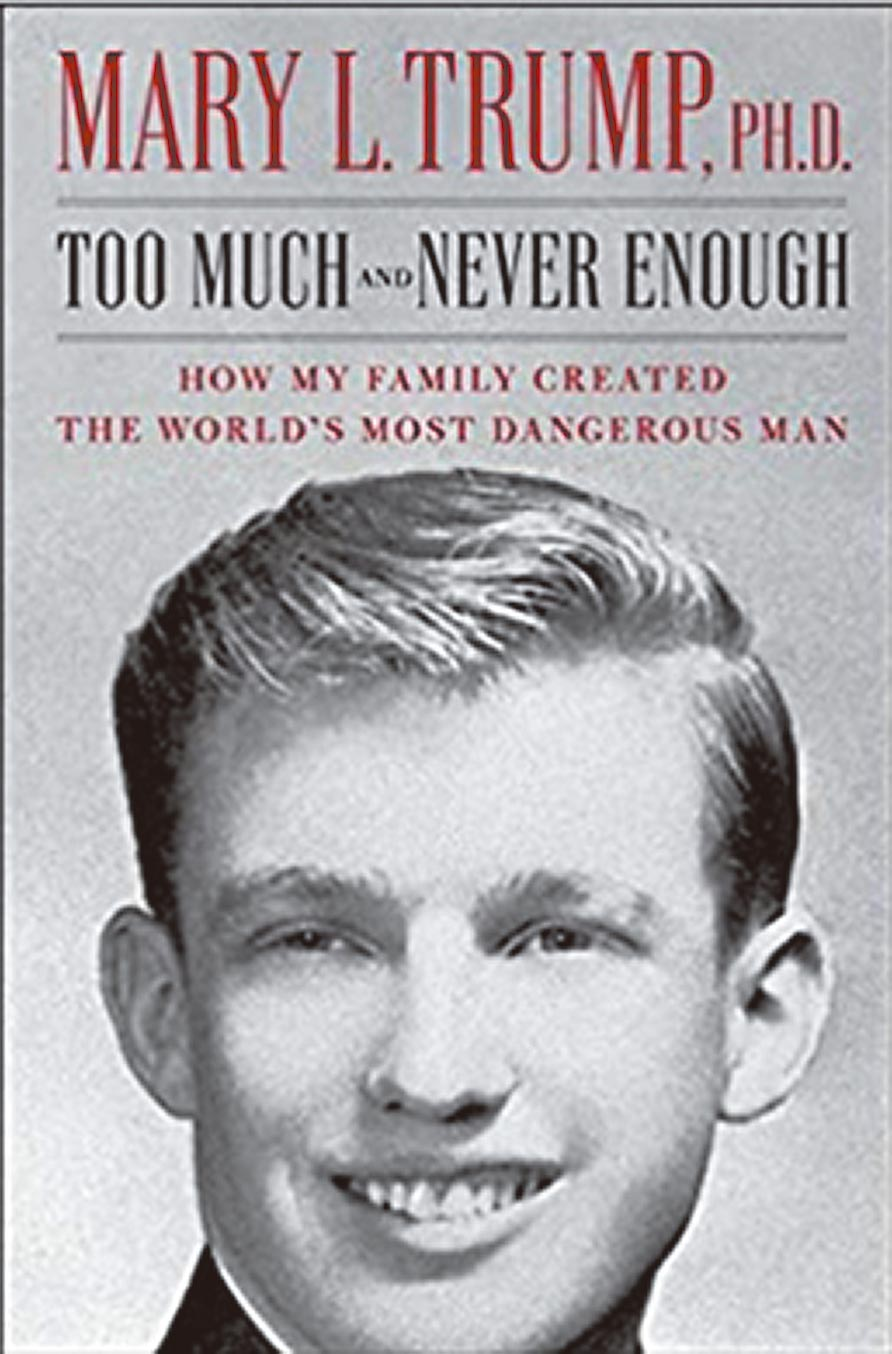 瑪麗(Mary Trump)將在7月由西蒙與舒斯特出版社出版的新書《太多,永遠不夠:我的家庭如何創造全世界最危險的人》。(取自互聯網)