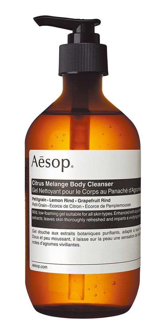 Aesop苦橙香檸身體潔膚露500ml,1400元。(Aesop提供)