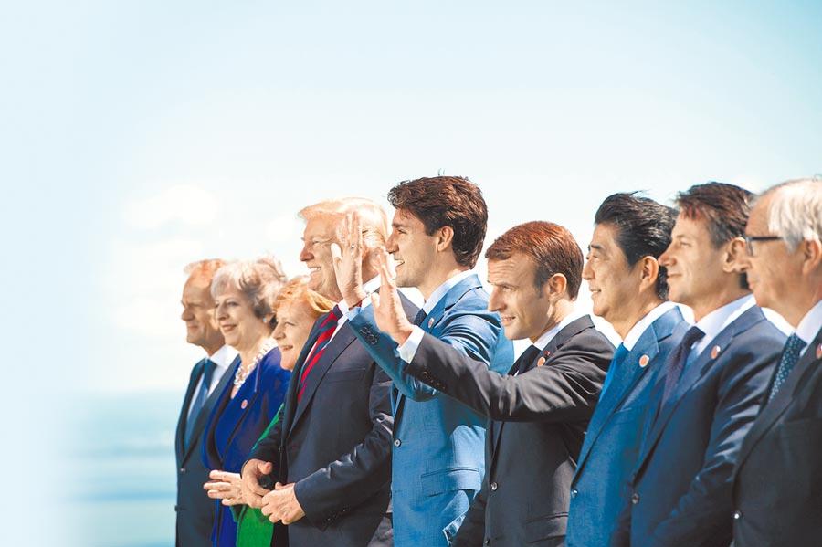 冷戰時期美蘇各領導一個集團,而疫情後不會有強有力的全球領導出現。圖為G7領導人合影。(中新社資料照片)