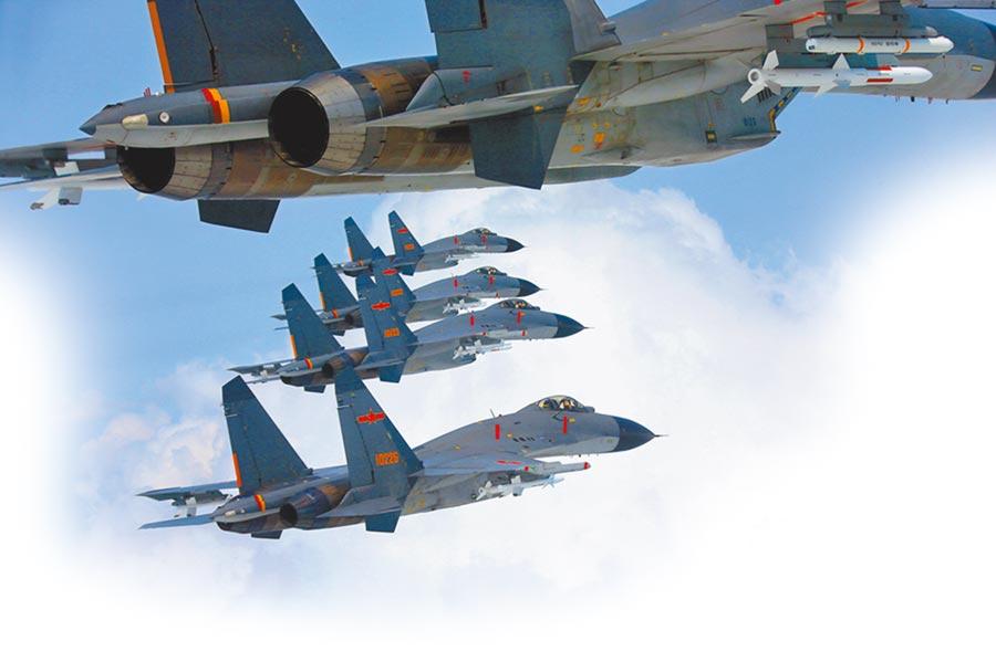 解放軍殲-11戰機。(取自中國軍網)