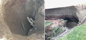 嚇!家門口地上裂出「神秘大洞穴」  進洞裡一探....「能蓋12棟房」