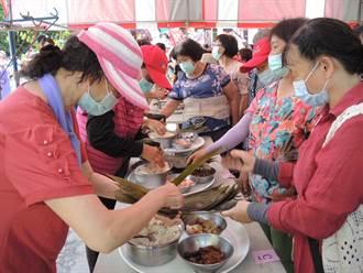 提前慶祝端午節 後壁區農會包粽 將軍區玩趣味競賽