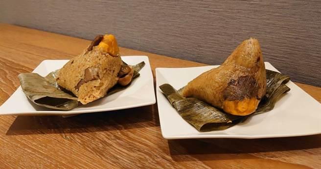 南部粽(右)約比北部粽(左)少30%的脂肪。(圖/國泰健康管理提供)