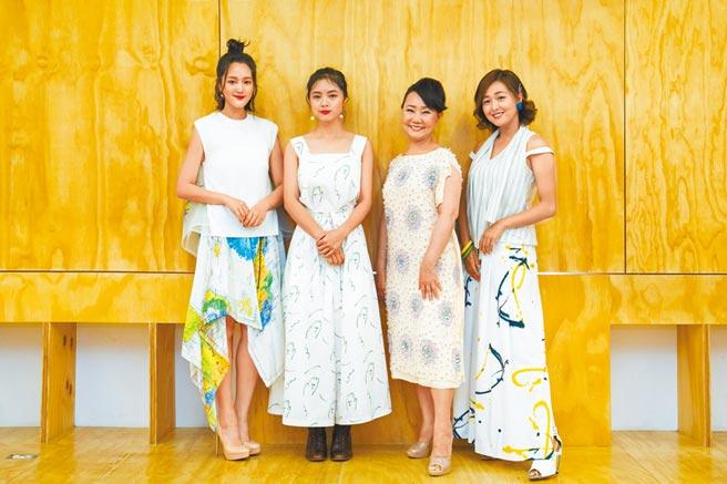 王淨(左起)、游珈瑄、呂雪鳳、張雅玲日前一同出席影后入圍記者會。(台北電影節提供)