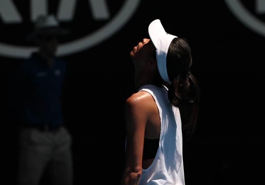 謝淑薇在2018年澳網參加女單。(新華社資料照)