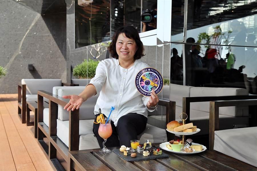嘉義市長黃敏惠廣邀各地民眾到嘉義市來看百年天文奇景日環食。(嘉義市政府提供/呂妍庭嘉義傳真)