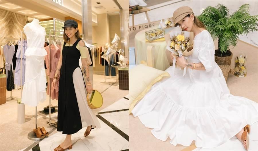 人氣時尚部落客陳艾琳蒞臨SNIDEL、gelato pique開幕現場。(圖/品牌提供)